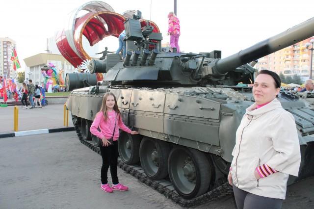Я и мама у танка